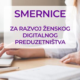 Smernice za razvoj ženskog digitalnog preduzetništva